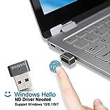 Benss USB-Fingerabdruck-Leser für Windows 7, 8, 8.1 & 10 Hello, Mini USB Fingerprint Reader Kein Treiber Benötigt, Laptop / PC / Desktop mit 360 Grad Speedy Matching mit WQHL und FIDO Zertifiziert