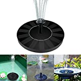 Solar Fountain Pump, Bird Bath Floating Pump Kit 1.4W Standing Floating with Different Spay Heads for Garden and Pond, Garden Decorations