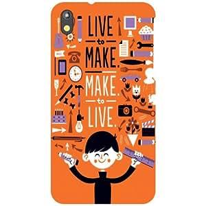 HTC Desire 816 Back Cover - Live Life Designer Cases