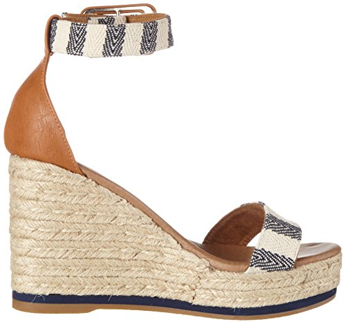 Wrangler Damen Kay Sandal Stripes Blau (NAVY/OFF WHITE)