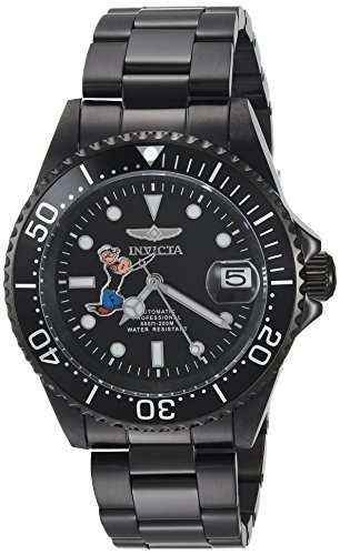 Invicta 24488 Character - Popeye Reloj Unisex acero inoxidable Automático Esfera negro
