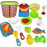 SMARTLADY Juguete de Cocina Juego de Comida 35 Piezas Utensilios de Cocina para Niños Regalo