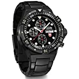 Swiss-Military-Mens-Navy-Conger-Nero-Auto-485mm-Black-IP-Steel-Bracelet-Case-Automatic-Watch-2556