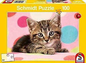 Schmidt Spiele Puzzle 56249Parejita de Gato Niño, niño Rompecabezas, 100Piezas