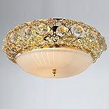 Cristal de luxe Lampes chambre plafond classique d'étude chambre lampe de plafond balcon cuisine salle à manger Plafonnier