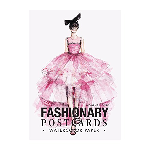 Fashionary watercolor postcards book women