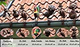 keine Angabe Dachrinnenfiguren 6er-Set Dachschmuck Zaunfigur Dachfigur Zaunschmuck Gartendeko
