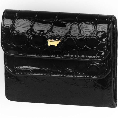 Braun Büffel Glanzkroko portafoglio pelle 9,5 cm schwarz, schwarz