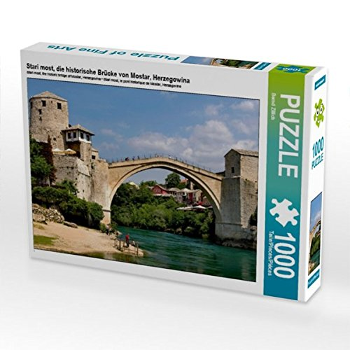 Stari Most, die historische Brücke von Mostar, Herzegowina 1000 Teile Puzzle Quer