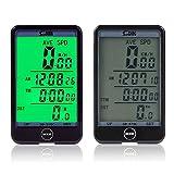 EEEKit Multi Fonction étanche Vélo Compteur de bicyclette pour le sport, Cycle de vélo Compteur de vitesse de vélo Odomètre Touch Button Grand écran LCD avec rétroéclairage...