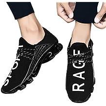 83f0068ee1587 Beikoard-scarpa da Ginnastica in Maglia Elastica per Uomo Scarpe Sportive da  Corsa Traspiranti Sportive