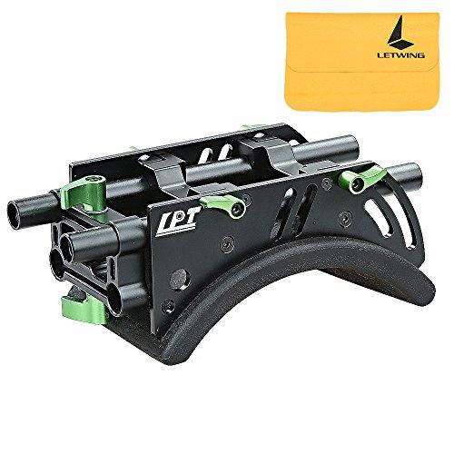 Lanparte Support Epaule Pro avec 15mm Rod pour Support Système Standard Rig Caméra Caméscope (SS-01)