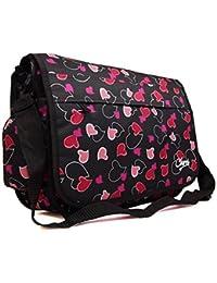 New Girls Womens Chervi Butterfly Hearts School College Laptop Satchel  Messenger Bag bf057ed28b981