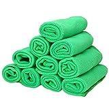 DYHM Panni Pulizia 10 Pezzi Panni for la Pulizia della casa Stracci multifunzionali Strofinacci Panno in Microfibra Asciugamano Pulito