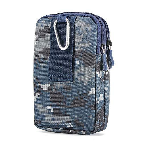 DFVmobile Mehrzweck Tarnung Gürteltasche Militär Marine für=> HTC Desire 700 DUAL > Blau (17.5 x 10 cm) - Desire 700 Htc Handy-fall,
