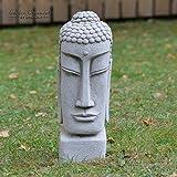 onefold–Tempel Buddha Kopf handgegossen Stein Statue/Garten Ornament/Skulptur/Home Terrasse Wintergarten Decor