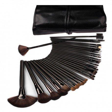 Kit pro de 32 pinceaux maquillage Noir