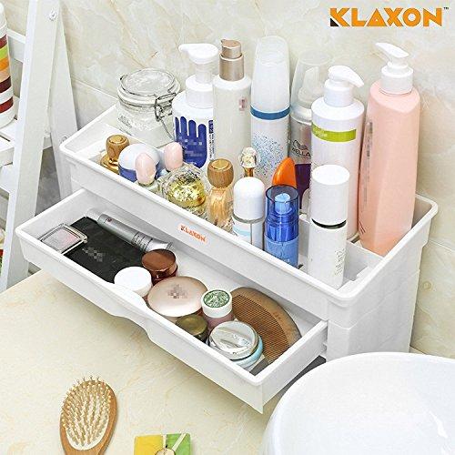 Klaxon Plastic Bathroom Storage Rack (White)