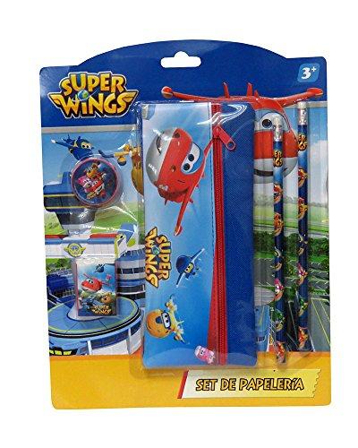 SUPER WINGS® Set de papeterie avec plumier poche