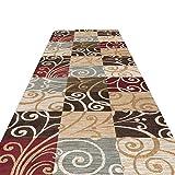 HAIPENG-Läufer Teppiche Flur Eingangsbereich Nicht Skid Eingangsmatte Einfach Zu Säubern Fleck-Fade-beständig Maschine Waschbar, 2 Farben (Farbe : B, größe : 0.8x4m)