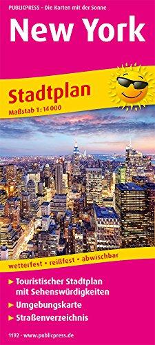 New York: Touristischer Stadtplan mit Sehenswürdigkeiten und Straßenverzeichnis. 1:14.000 (Stadtplan / SP)