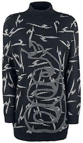 Générique Metallica EMP Signature Collection Sweat Col Cheminée Femme Noir Noir