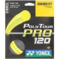 Yonex Saitenset Poly Tour Pro - Cordaje de Raqueta de Tenis, Color Amarillo, Talla 12 m