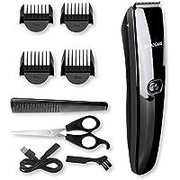 BROADCARE Herren Haarschneider Set Elektrischer Haarschneidemaschine Profi-Bart- und Haarschneider für Akku- und Netzbetrieb Haartrimmer für Baby Kinder Erwachsenen USB Aufladen(kein Ladegerät)