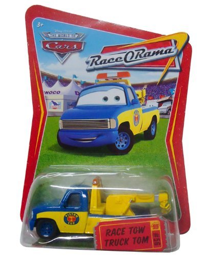 Disney Pixar Cars 1:55 scale (3 inch) RACE TOW TRUCK TOM #56 World of Cars RACE-O-RAMA series die cast metal vehicle by Disney - Truck Tow Diecast