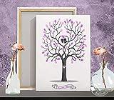 Fingerabdruck-baum Wedding-tree Hochzeitsbaum Gästebuch Alternative für Hochzeit, Leinwand, Papier