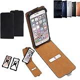 K-S-Trade Flipstyle Case Nokia 5 Dual-SIM Schutzhülle Handy Schutz Hülle Tasche Handytasche Handyhülle + integrierter Bumper Kameraschutz, schwarz (1x)