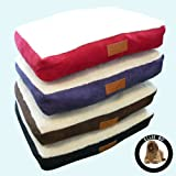 Ellie-Bo Dog Bed with Faux Suede and Sheepskin Topping... - Compareprices24.co.uk