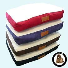 Cama para perro con gamuza sintética Ellie-boy, piel de cordero para perro jaula / caja XXL 121,9 cm.