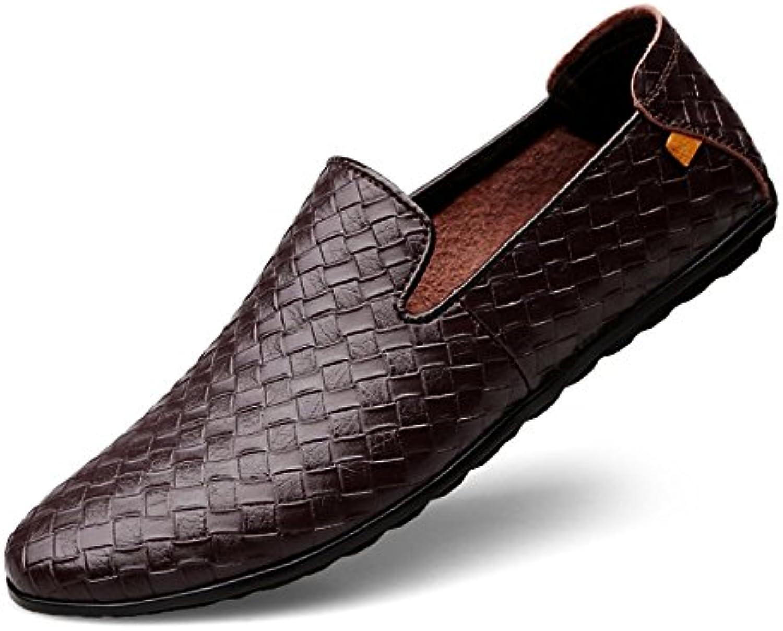 XYNXKZ Hombres Informal Moda Cómodo Británico Transpirable Zapatos De Cuero -