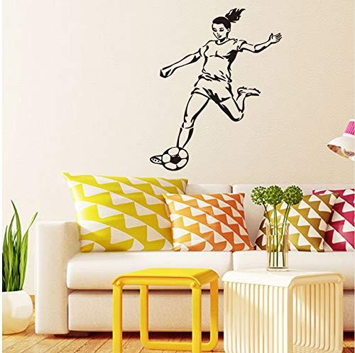 (Lvabc Mädchen Fußball Spieler Aufkleber Sport Fußball Aufkleber Mädchen Kinder Zimmer Poster Vinyl Wandtattoos)