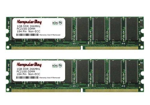 Komputerbay 2GB (2x1GB) DDR DIMM (184 PIN) 266Mhz DDR266 PC2100 für Biostar P4M80-M4 2 GB (2x1GB) - Ddr266 Motherboard