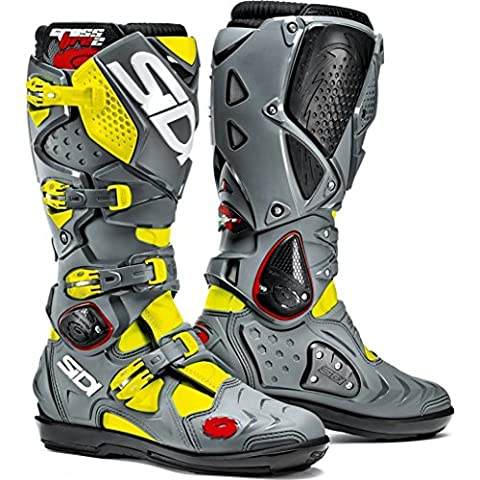 Sidi Crossfire 2 SRS Yellow Fluo/Grey Motorcycle Boot