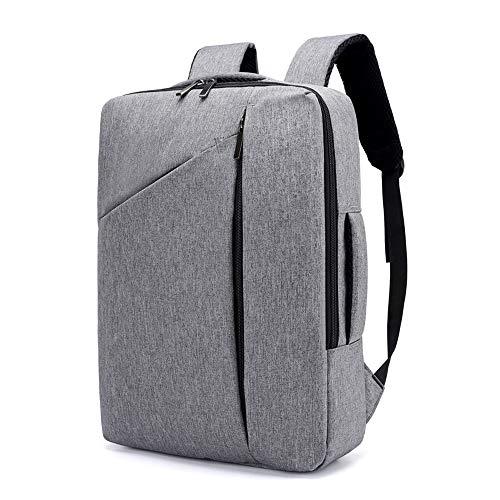 Zmsdt Herren Laptop 15,6-Zoll-Rucksack wasserdicht Business School Bag Anti-Diebstahl-Rucksack Männer und Frauen Reisen Rucksack (Farbe : Gray)
