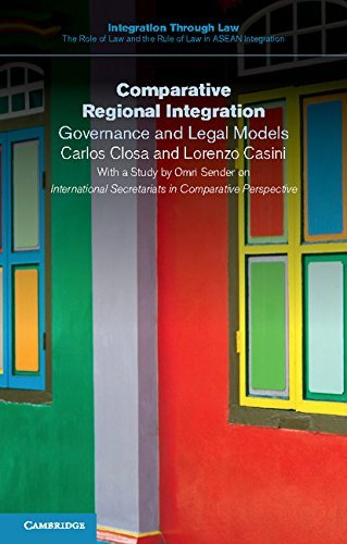 Comparative Regional Integration: Governance and Legal Models (Integration through Law:The Role of Law and the Rule of Law in ASEAN Integration) by Carlos Closa (2016-05-30)
