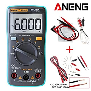 Wanfor ANENG AN8002 Digital Multimeter 6000 Counts AC/DC Ammeter Voltmeter Thermometer