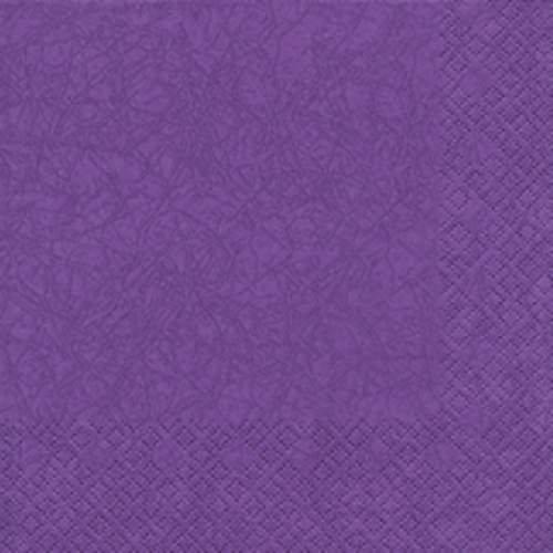 20 Servietten Lila Violett 33 x 33 cm 3 lagig, Lunch Servietten, Servietten Modern Colours Tissue für den gedeckten Tisch Anlass, Fest, Party, Hochzeit, Taufe, Kommunion, Weihnachten, Ostern