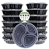 Best Freshware Meals - Freshware 15-Pack 9-Inch Round 3 Compartment Bento Lunch Review