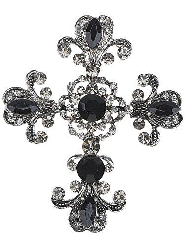 Alilang Frauen Antike inspiriert Wunderschöne Strass Heilig Kreuz Kostüm Halskette Anhänger ()