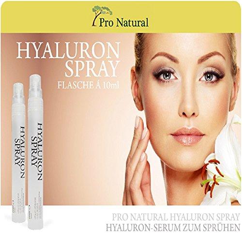 Hyaluronsäure Konzentrat - hochdosiertes Hyaluron Anti Aging Serum Gel Spray gegen Falten, auch in Tagescreme und Nachtcreme untermischen geeignet - 10ml