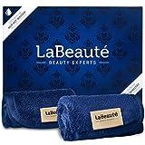LaBeauté Make-Up Entferner-Tücher (2 Stk.), hypoallergen, waschbar & wiederverwendbar, Gesichtsreinigungstücher, 21x21 cm, Navy/Dunkelblau