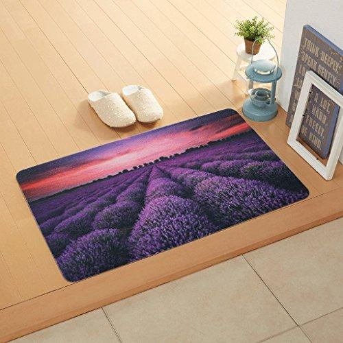 YYF tapis French Romantique Purple poussière poussette porte de salle Slim matelas peut être Pad main-pied (taille : 40Cm*70 Cm)