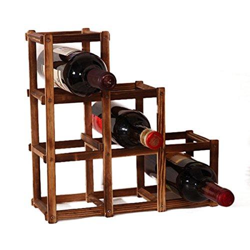 Mount-flasche Wein-rack (Global Brands Online Holz Rotwein Halter Rack 6 Flasche Wein Rack Mount Küche Glas Getränke Halter Speicherorganisator)