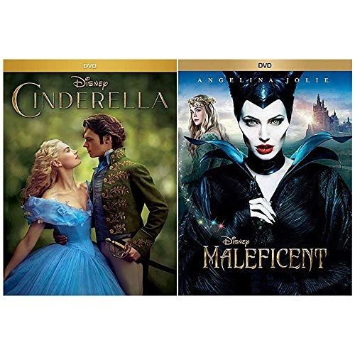 Live Action Disney Movie Bundle: 2 Films (Cinderella + Maleficent)