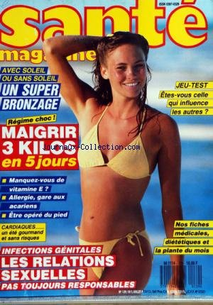 SANTE MAGAZINE [No 139] du 01/07/1987