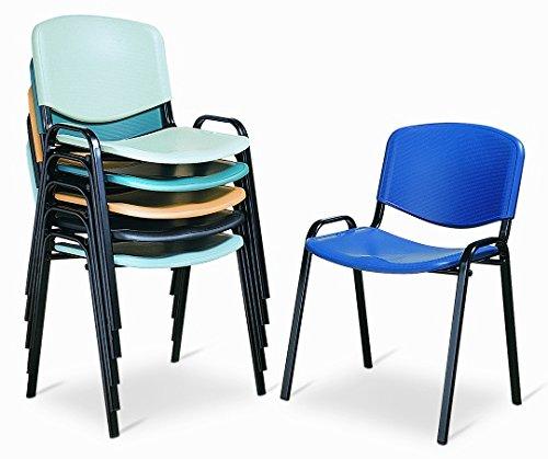 Sedie Da Ufficio Plastica.Sedia Da Ufficio Poltrona Fissa Per Sala Attesa Metallo E Plastica